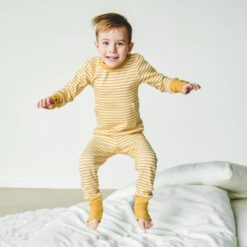 goumi Sun Stripe Bamboo Kid's Loungewear Set