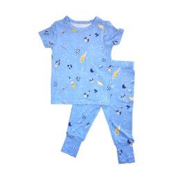 Laree + Co Logan Rockets Bamboo Viscose Two-Piece Pajama Set