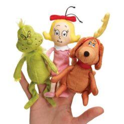 Manhattan Toy Dr. Seuss The Grinch Finger Puppet Set