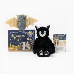 Slumberkins Black Cat Lynx Kin and Bat Mini Halloween Limited Edition Bundle