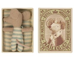 Maileg Baby Boy Mouse in Matchbox