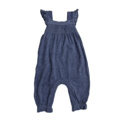 Angel Dear Denim Smocked Front Bamboo Coverall