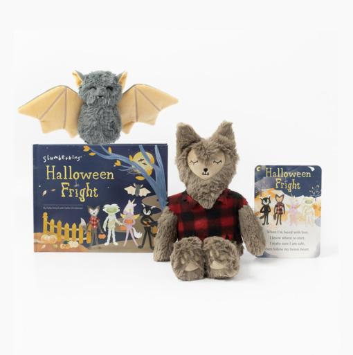 Slumberkins Werewolf Fox Kin and Bat Mini Halloween Limited Edition Bundle