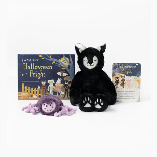 Slumberkins Black Cat Lynx Kin and Spider Mini Halloween Limited Edition Bundle