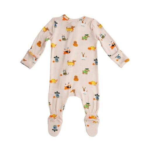 Angel Dear Costumed Cats and Dogs Bamboo Viscose Zippered Footie