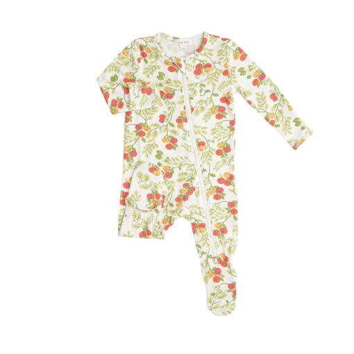 Angel Dear Baby Tomatoes Bamboo Viscose Zippered Footie