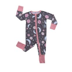 Little Sleepies To the Moon & Back Pink Bamboo Viscose Zippy