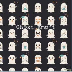 Kozi & Co Ghost Emoji Bamboo Women's Joggers