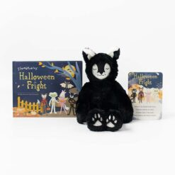 Slumberkins Black Cat Lynx Kin and Board Book Halloween Limited Edition