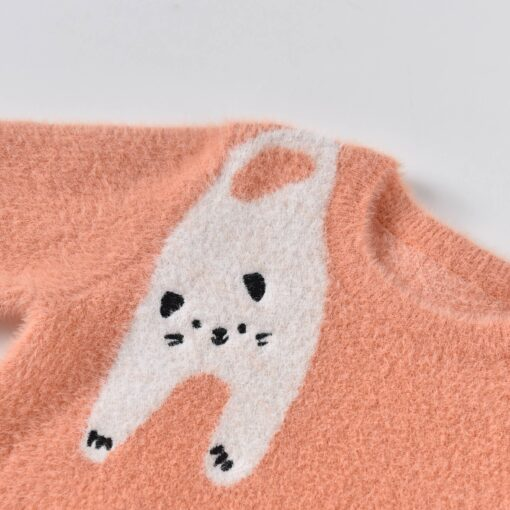 Aimama Penny Cat Sweater in Coral Pink