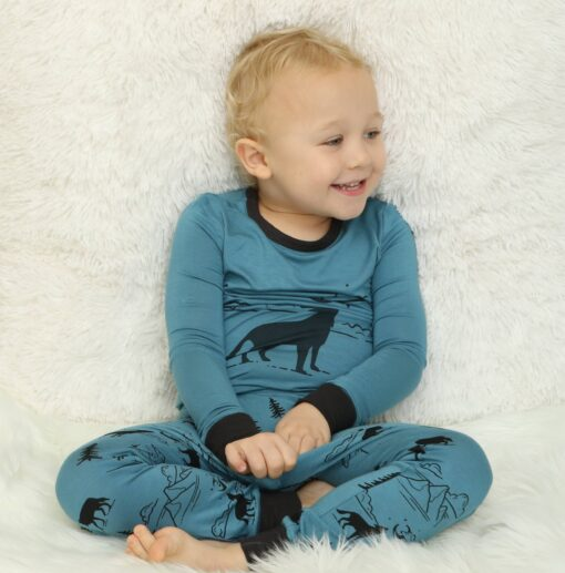 Silkberry Baby Call of the Wild Bamboo Two-Piece Pajama Set
