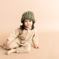 The Blueberry Hill Chunky Beanie in Olive