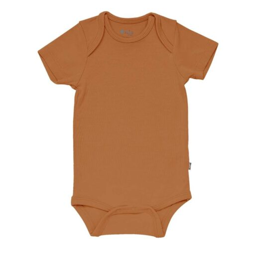 Kyte BABY Bodysuit in Nutmeg