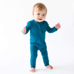 Kyte BABY Zippered Romper in Baltic