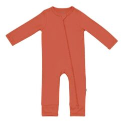 Kyte BABY Zippered Romper in Clementine