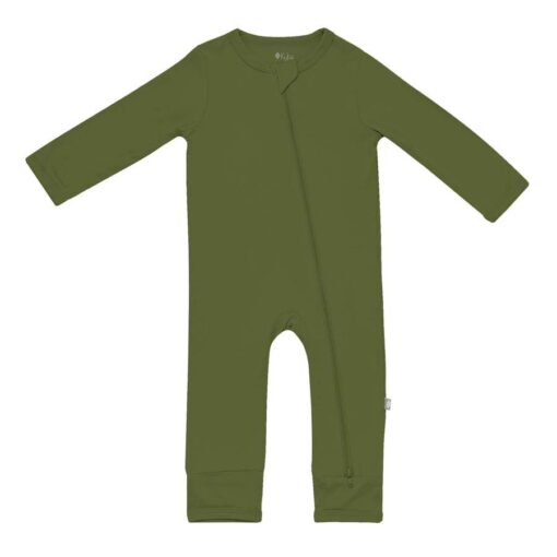 Kyte BABY Zippered Romper in Olive