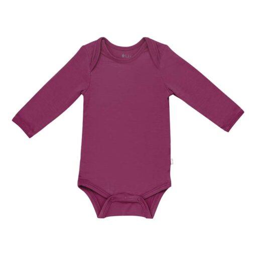 Kyte BABY Long Sleeve Bodysuit in Dahlia