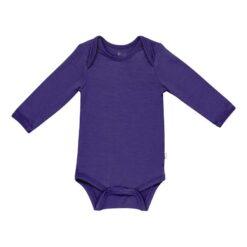 Kyte BABY Long Sleeve Bodysuit in Eggplant