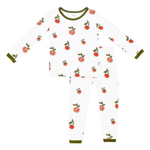 Kyte BABY Toddler Pajama Set in Persimmon