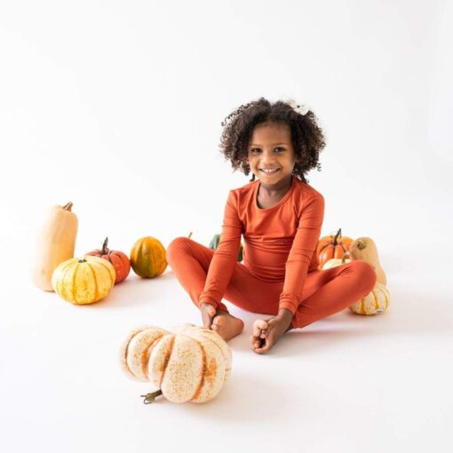 Kyte BABY Toddler Pajama Set in Clementine