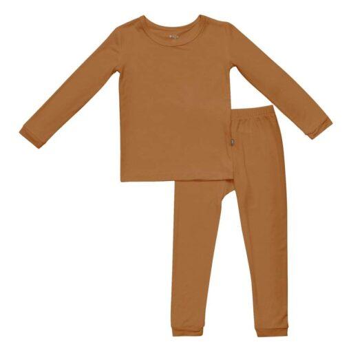 Kyte BABY Toddler Pajama Set in Nutmeg