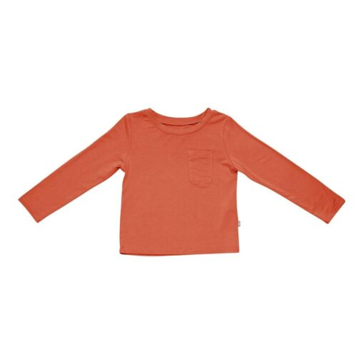 Kyte BABY Long Sleeve Toddler Tee in Clementine