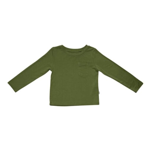 Kyte BABY Long Sleeve Toddler Tee in Olive