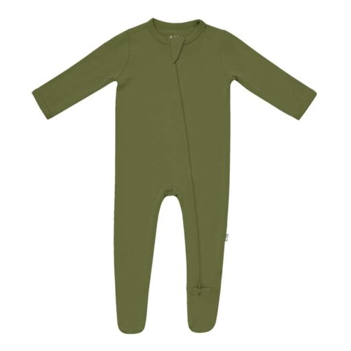 Kyte BABY Zippered Footie in Olive