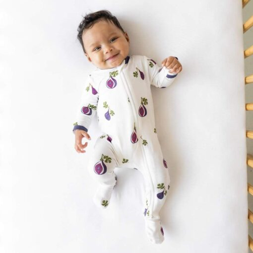 Kyte BABY Zippered Footie in Fig