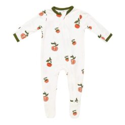 Kyte BABY Zippered Footie in Persimmon