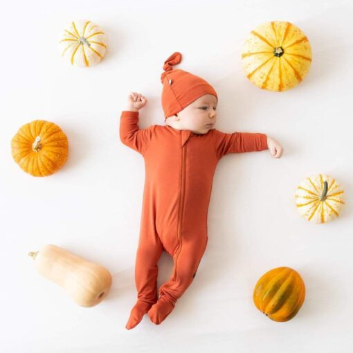 Kyte BABY Zippered Footie in Clementine