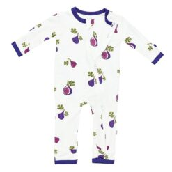 Kyte BABY Zippered Romper in Fig