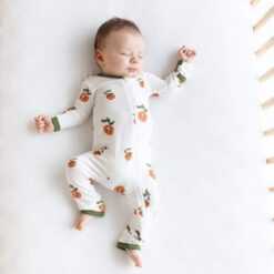 Kyte BABY Zippered Romper in Persimmon